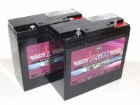 2x Leoch AGM-22-MOB -  12v 22ah Uprated Mobility AGM Batteries